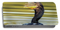 Cormorant With Fish 0977-111217-1cr Portable Battery Charger