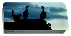 Cormorants In Silhouette Portable Battery Charger