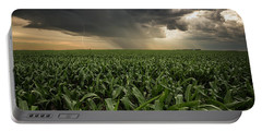 Portable Battery Charger featuring the photograph Corn And Lightning by Aaron J Groen