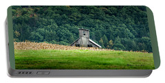 Portable Battery Charger featuring the photograph Corn Field Silo by Marvin Spates