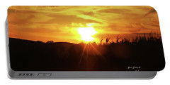 Corn Field Sunset Portable Battery Charger