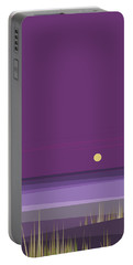 Corn Field Twilight Purple Portable Battery Charger by Val Arie