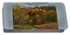 Cornfield In Fall  Portable Battery Charger