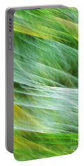 Portable Battery Charger featuring the digital art Cornfield Tornado Abstract by Andee Design