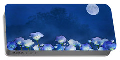 Cornflowers In The Moonlight Portable Battery Charger