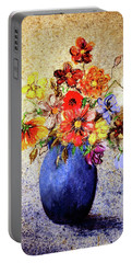 Cornucopia-still Life Painting By V.kelly Portable Battery Charger