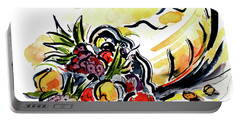 Portable Battery Charger featuring the painting Cornucopia by Terry Banderas