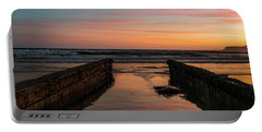 Coronado Pier Remains Sunset Portable Battery Charger by Scott Cunningham