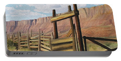 Corral Gate Portable Battery Charger by Walter Colvin
