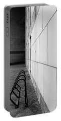 Corridor In Black And White Portable Battery Charger