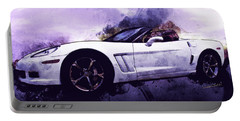 Corvette Convertible Pen And Watercolor Portable Battery Charger
