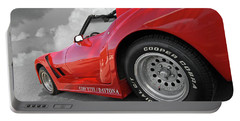 Portable Battery Charger featuring the photograph Corvette Daytona by Gill Billington
