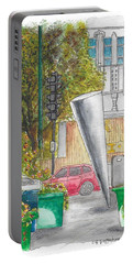 Cosimo Pizzuli Sculpture In Wilshire Blvd. And Robertson, Beverly Hills, California Portable Battery Charger