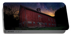 Portable Battery Charger featuring the photograph Cosmic Barn by Bill Wakeley