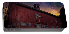 Portable Battery Charger featuring the photograph Cosmic Barn Square by Bill Wakeley