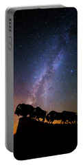 Portable Battery Charger featuring the photograph Cosmic Caprock Bison by Stephen Stookey