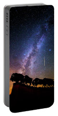 Portable Battery Charger featuring the photograph Cosmic Caprock by Stephen Stookey