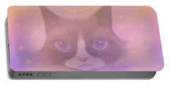 Cosmic Cat Portable Battery Charger