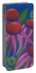 Cosmic Coneflowers Portable Battery Charger