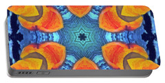 Portable Battery Charger featuring the painting Cosmic Fluid by Derek Gedney