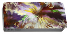 Portable Battery Charger featuring the digital art The Flowering Of The Cosmos by Amyla Silverflame