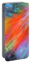 Cosmic Soiree De Colores - Abstract Painting Portable Battery Charger