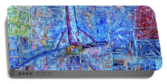 Portable Battery Charger featuring the painting Cosmodrome by Dominic Piperata