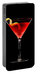 Cosmopolitan Cocktail In Front Of A Black Background  Portable Battery Charger