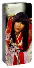Cosplayer In Japanese Costume Portable Battery Charger