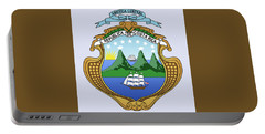 Portable Battery Charger featuring the drawing Costa Rica Coat Of Arms by Movie Poster Prints