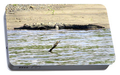 Costa Rica Crocodile 1 Portable Battery Charger by Randall Weidner