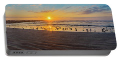 Coastal Sunrise Portable Battery Charger by Dave Files