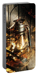 Cosy Open Fire. Cottage Artwork Portable Battery Charger