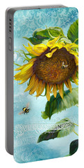 Cottage Garden Sunflower - Everlastings Seeds N Flowers Portable Battery Charger by Audrey Jeanne Roberts