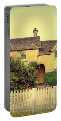 Cottage With A Picket Fence Portable Battery Charger by Jill Battaglia