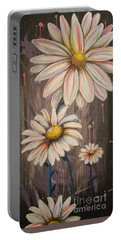 Cotton Candy Daisies Portable Battery Charger