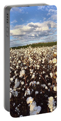 Cotton Field In South Carolina Portable Battery Charger