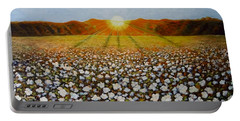 Cotton Field Sunset Portable Battery Charger