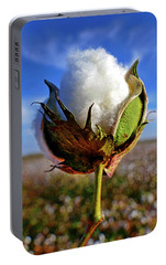 Portable Battery Charger featuring the photograph Cotton Pickin' by Skip Hunt