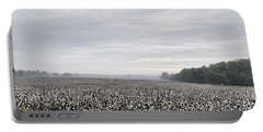 Portable Battery Charger featuring the photograph Cotton Under The Mist by Jan Amiss Photography