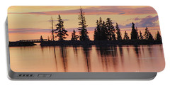 Cottonwood Sunset Lake Reflections  Portable Battery Charger