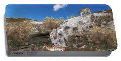 Cougar From Above Portable Battery Charger by Walter Colvin