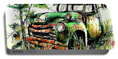 Portable Battery Charger featuring the painting Country Antiques by Terry Banderas