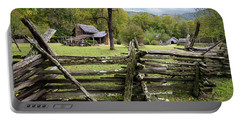 Country Cabin And Fence Portable Battery Charger