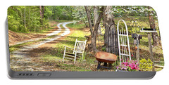 Portable Battery Charger featuring the photograph Country Driveway In Springtime by Gordon Elwell