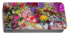 Country Flower Garden Colourful Design Portable Battery Charger
