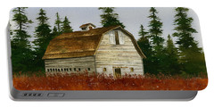 Portable Battery Charger featuring the painting Country Landscape by James Williamson