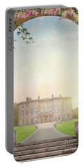Country Mansion At Sunset Portable Battery Charger by Lee Avison