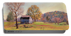 Country Morning Portable Battery Charger by Bonnie Mason