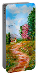 Country Pathway In Greece Portable Battery Charger